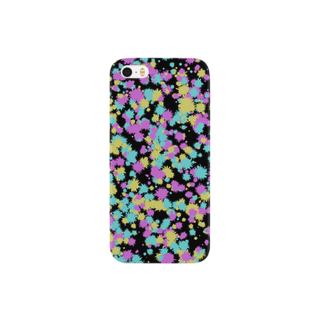 レオナのRandom Paint02(Black) Smartphone cases