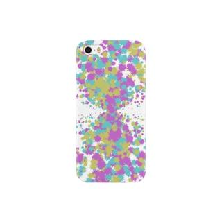 Random Paint03(White) Smartphone cases