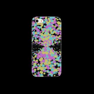 レオナのRandom Paint03(Black) Smartphone cases