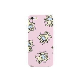 hamigaki menchi(baby pink) スマートフォンケース