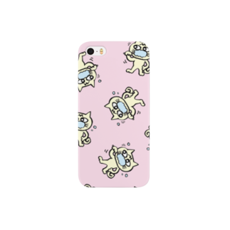 mangatronixのhamigaki menchi(baby pink) スマートフォンケース