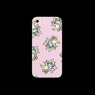 mangatronixのhamigaki menchi(baby pink) Smartphone cases