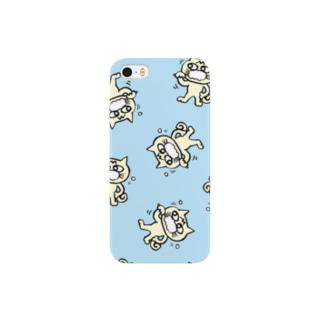hamigaki menchi(aqua blue) Smartphone cases