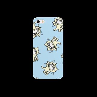 hamigaki menchi(aqua blue) スマートフォンケース