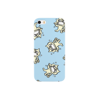 mangatronixのhamigaki menchi(aqua blue)スマートフォンケース