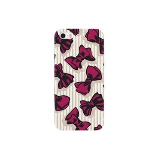 赤いリボンxタテジマ Smartphone cases