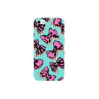 ピンクなリボン Smartphone cases