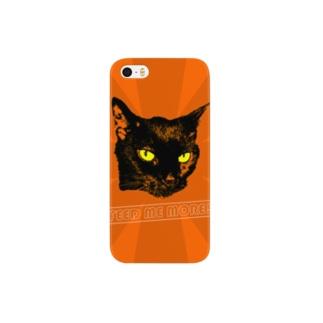 黒猫 FEED ME MORE! Smartphone cases