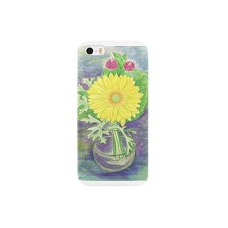 黄色いガーベラ Smartphone cases