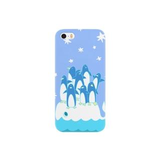 くじらとペンギン Smartphone cases