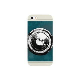 トイカメラ風ケース(浅葱色) Smartphone cases