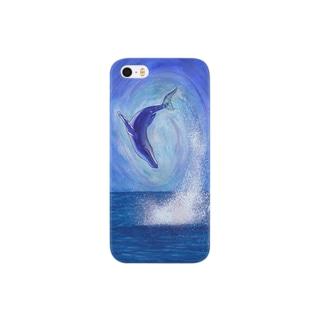 跳ねるクジラ Smartphone cases