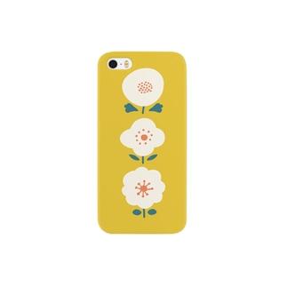 3つのお花( イエロー ) Smartphone cases