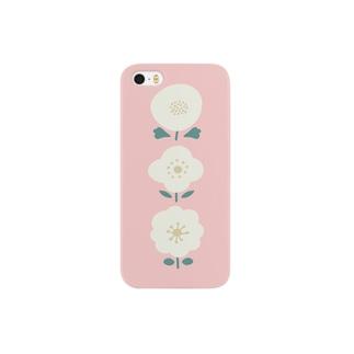 3つのお花( ピンク ) Smartphone cases