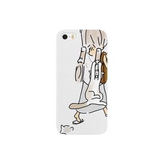 ちくわおさげ&ねこブラ Smartphone cases