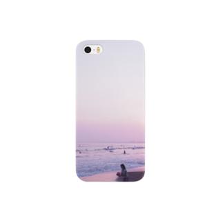 夕暮れの海岸 Smartphone cases