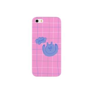 Retro cat(pink) Smartphone cases