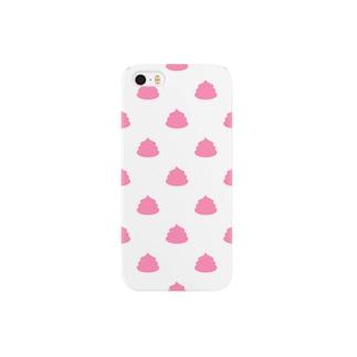 ピンクのうんこ柄 Smartphone cases