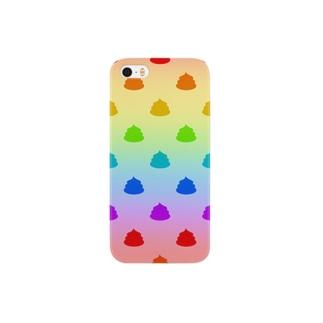 虹色のうんこ柄 Smartphone cases