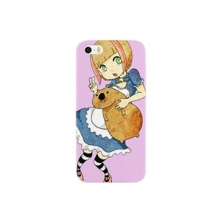 アイドルとウォンバット Smartphone cases