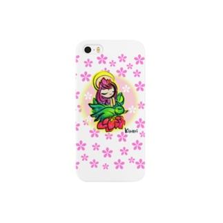 桜の孔雀明王さま✨携帯 Smartphone cases