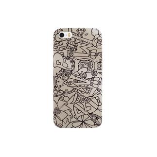 モノクロ03 Smartphone cases