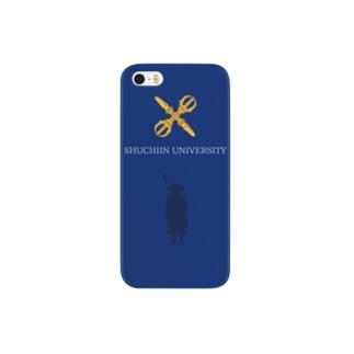 修行大師ver.紺 Smartphone cases