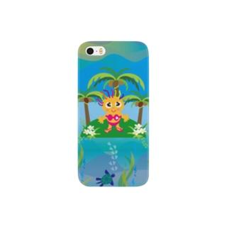クレコちゃんのウミガメと過ごす夏の一日 Smartphone cases
