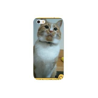茶とらネコのスマホカバー Smartphone cases