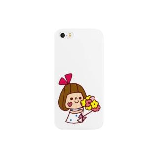 花束リボンちゃん スマートフォンケース