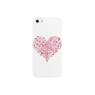 Dots Heart(Red) Smartphone cases