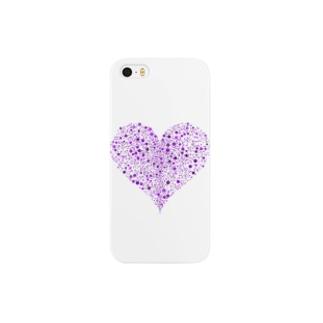 Dots Heart(Purple) Smartphone cases
