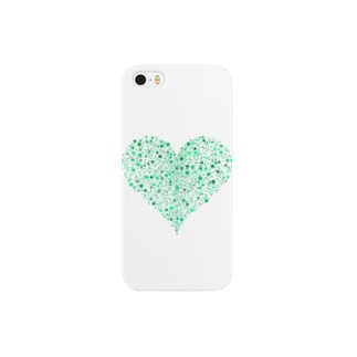 Dots Heart(Green) Smartphone cases