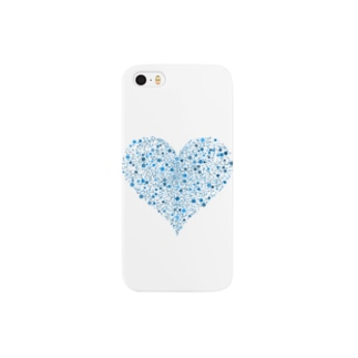 Dots Heart(Blue) Smartphone cases