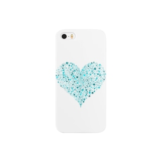 Dots Heart(Turquoise) Smartphone cases