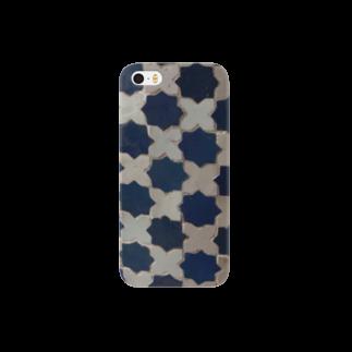 Trip Birdのモロッコのタイル3 Smartphone cases
