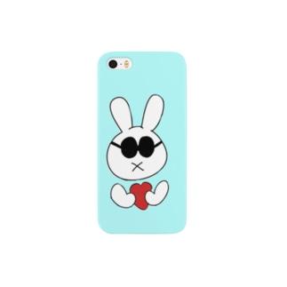 お先真っ暗うさぎ(サングラス) Smartphone cases