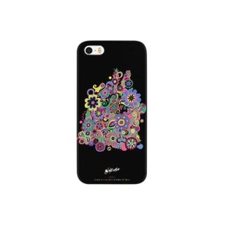 冥土の兎 黒い裏地編 Smartphone cases