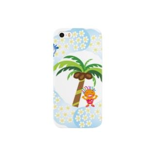 さわやかビーチの花飾りのクレコちゃん Smartphone cases