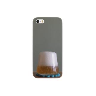 富士山を呑み干す夏ビール Smartphone cases