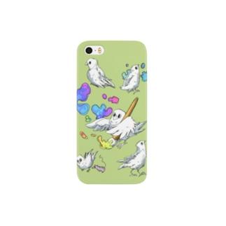 色なしカラスC Smartphone cases