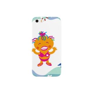 イルカと遊ぶクレコちゃん Smartphone cases