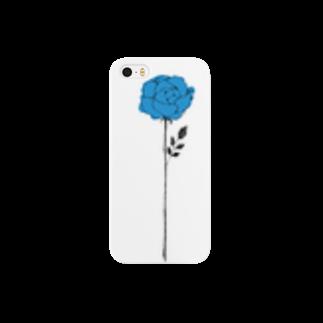 そらの青いバラ(2) Smartphone cases