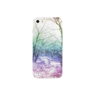 Colorful Photo(Snow Forest) Smartphone cases