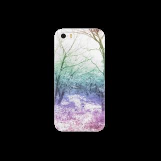 レオナのColorful Photo(Snow Forest) Smartphone cases