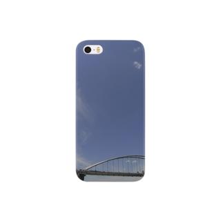 鉄橋と空 Smartphone cases