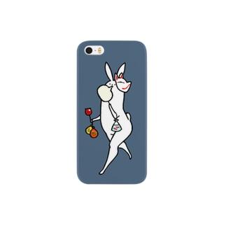 美脚うさぎ 夏祭り仕様 Smartphone cases