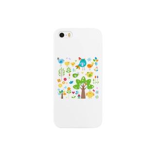 にぎやかな森 Smartphone cases