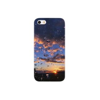 夕日と水 Smartphone cases