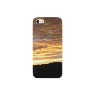 夕焼けを見上げて Smartphone cases